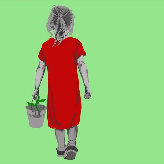 Illustration: Blumenmädchen